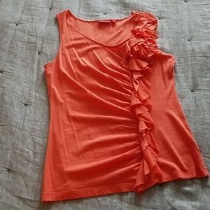 Ruffle detailed sleeveless top